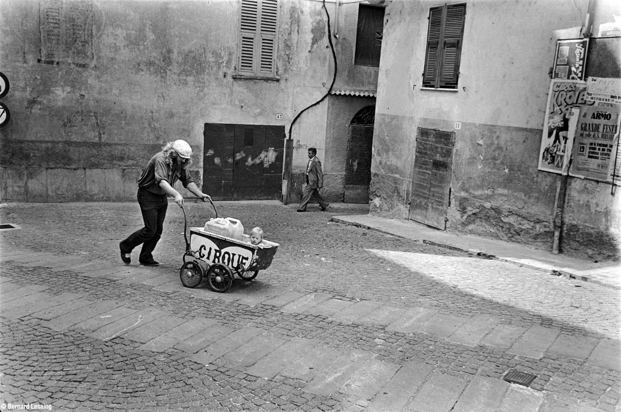 Pieve di Teco, Piémont, Italie, Cirque Bidon 1979-80 © Bernard Lesaing