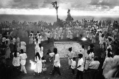 Autour du champ de feu, chapelle de Grand Fond, 1992 © Bernard Lesaing