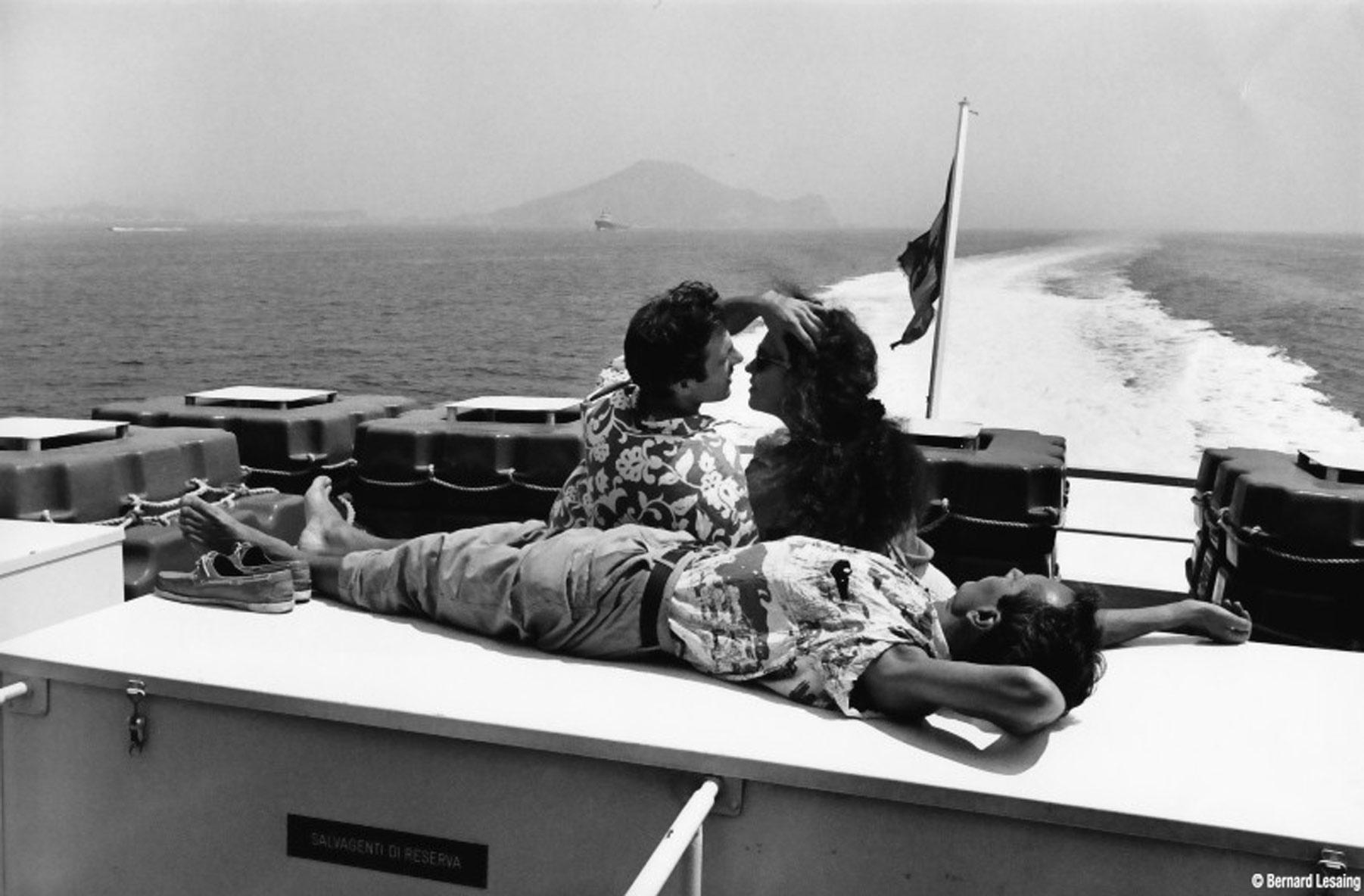 Sur l'aliscafo, baie de Naples, 1990-92 © Bernard Lesaing