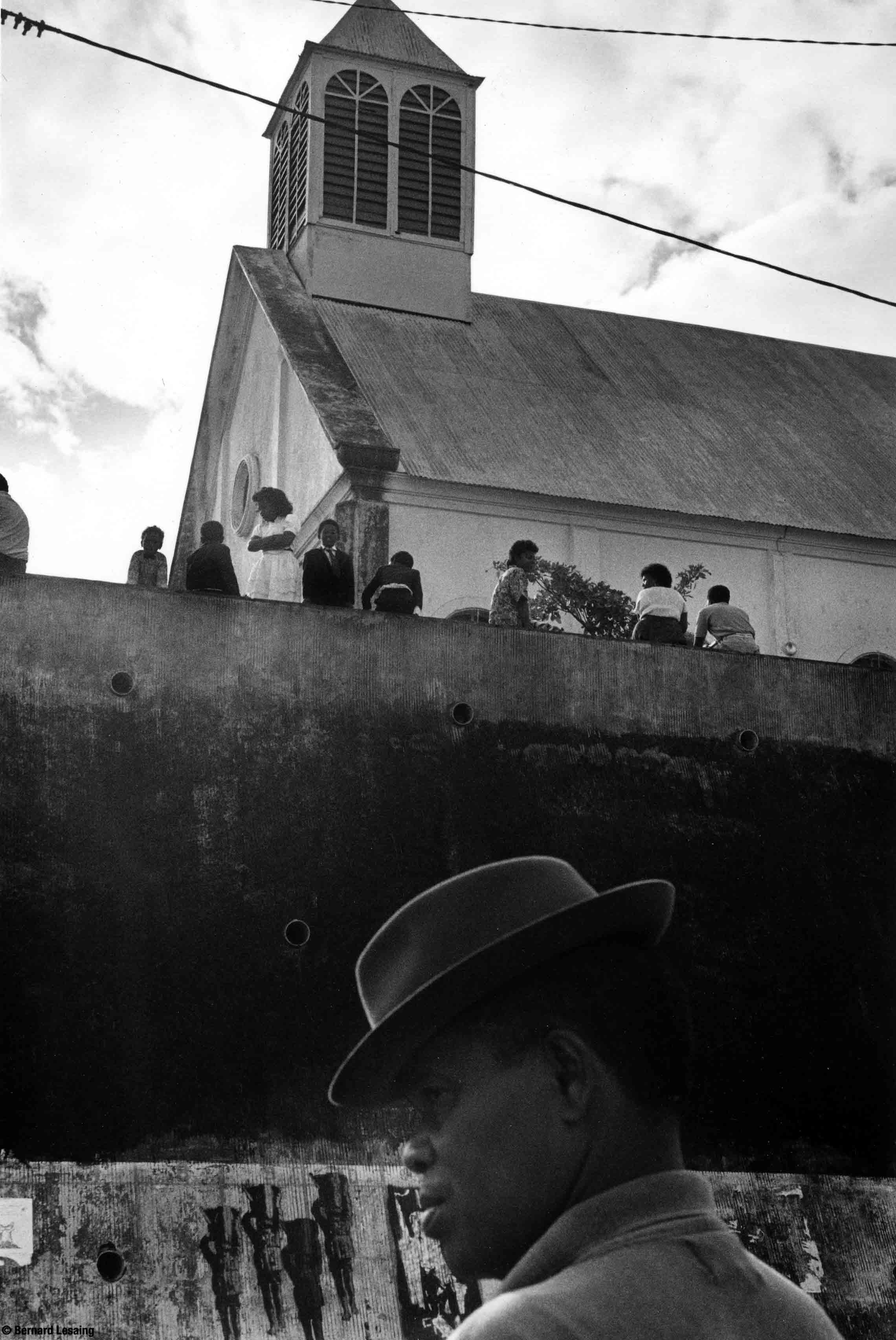 L'église de Piton Saint-Leu, 90's © Bernard Lesaing